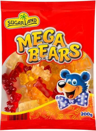 Отзыв на SUGAR LAND Fruchtgummi-Bärchen Mega Bears из Интернет-Магазина LIDL