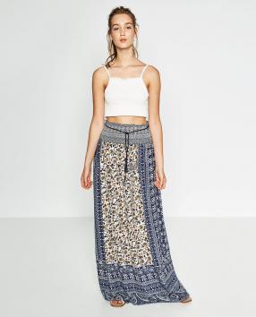 Отзыв на ГЛУБОКОЕ Юбка с принтом из Интернет-Магазина Zara