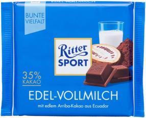 Отзыв на Ritter Sport Шоколад Благородный-Молочный из Интернет-Магазина LIDL