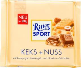 Отзыв на Ritter Sport Шоколад Кекс + Нусс из Интернет-Магазина LIDL