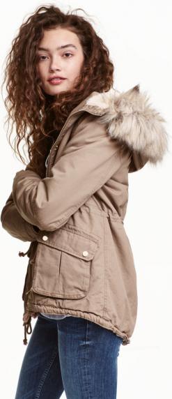 Отзыв на Парка на меховой подкладке из Интернет-Магазина H&M