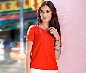 Отзыв на Besticktes Shirt, orange из Интернет-Магазина Tchibo