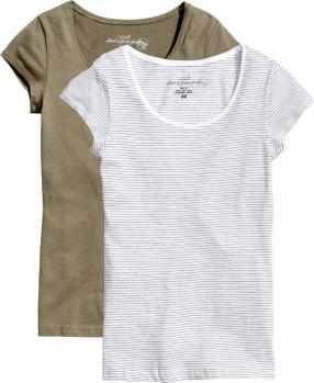Отзыв на 2 пары футболок из Интернет-Магазина H&M