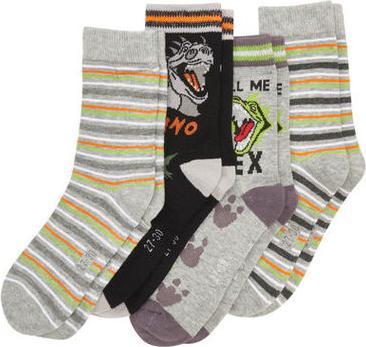 Отзыв на Socken - gestreift, Dinosaurier - 4er-Pack из Интернет-Магазина Kik.de