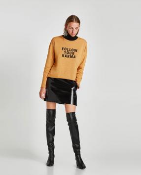 Отзыв на Свитер с надписью из Интернет-Магазина Zara