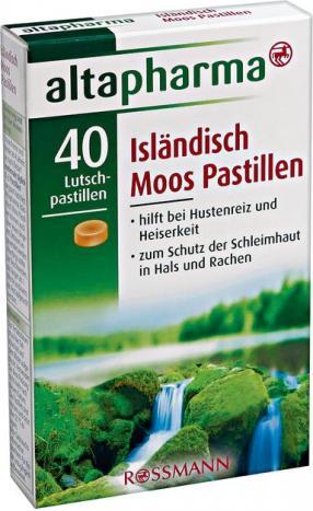 Отзыв на altapharma Isländisch Moos Pastillen из Интернет-Магазина ROSSMANN