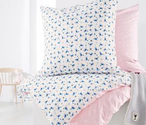 Отзыв на Kinder-Renforcé-Wendebettwäsche, rosé-weiß-blau из Интернет-Магазина Tchibo