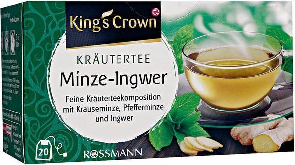 Отзыв на King's Crown Kräutertee Minze-Ingwer из Интернет-Магазина ROSSMANN