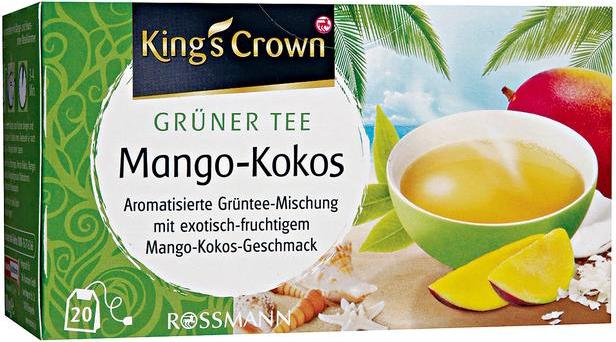 Отзыв на King's Crown Grüner Tee Mango-Kokos из Интернет-Магазина ROSSMANN