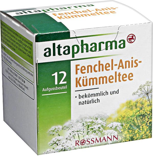 Отзыв на altapharma Fenchel-Anis-Kümmeltee из Интернет-Магазина ROSSMANN
