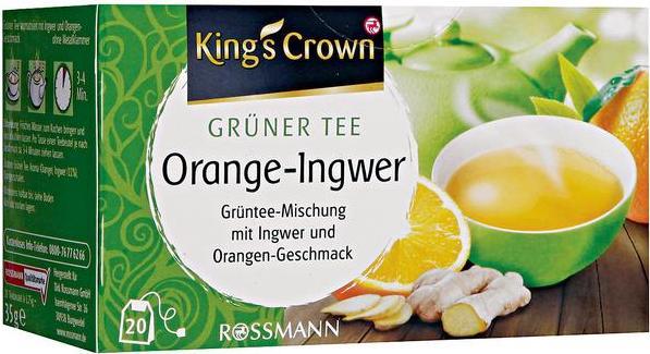 Отзыв на King's Crown Grüner Tee Orange-Ingwer из Интернет-Магазина ROSSMANN