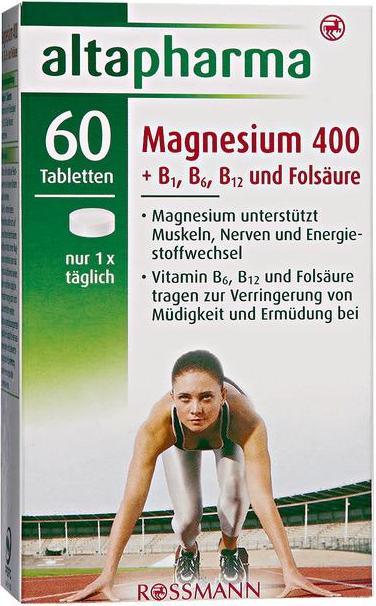 Отзыв на altapharma Magnesium 400 + B1, B6, B12 & Folsäure из Интернет-Магазина ROSSMANN