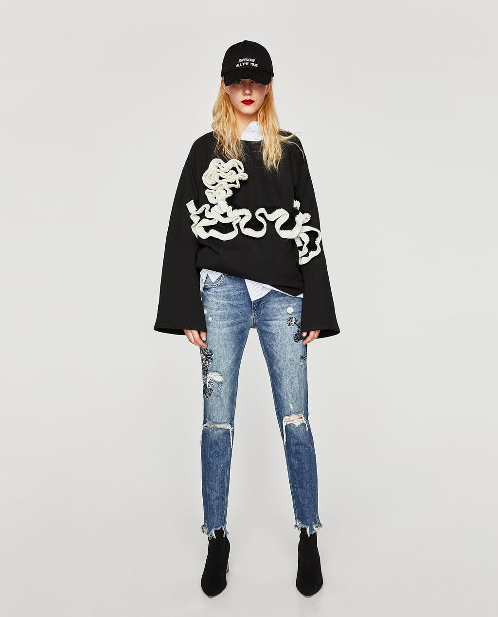 Отзыв на Джинсы с вышивкой из Интернет-Магазина Zara
