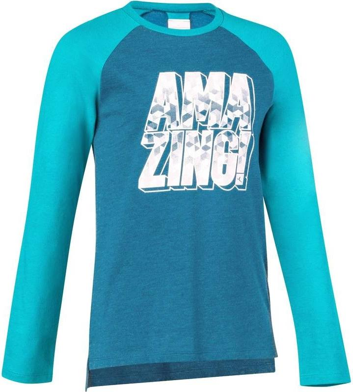 Отзыв на Кофта с длинным руковом  для детей с принтом голубой из Интернет-Магазина Decathlon