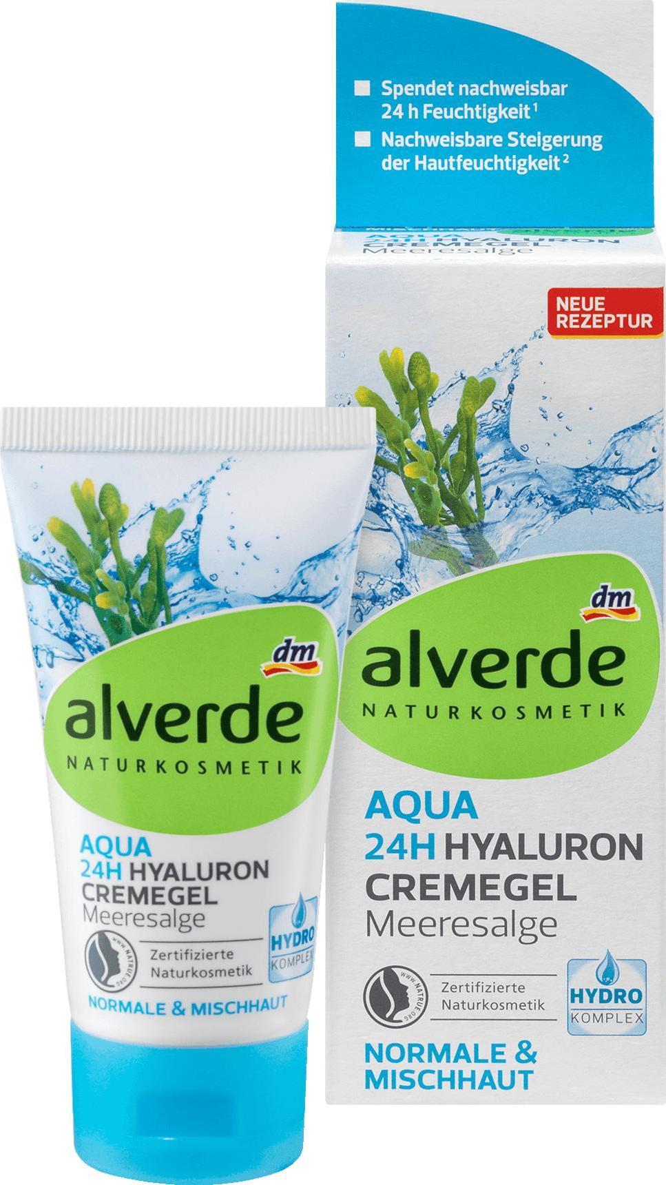 Отзыв на Tagespflege Aqua 24h Hyaluron Hydro Cremegel Meeresalge, 50 ml из Интернет-Магазина DM