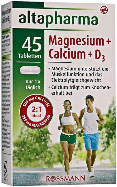 Отзыв на altapharma Magnesium + Calcium + D3 Tabletten из Интернет-Магазина ROSSMANN