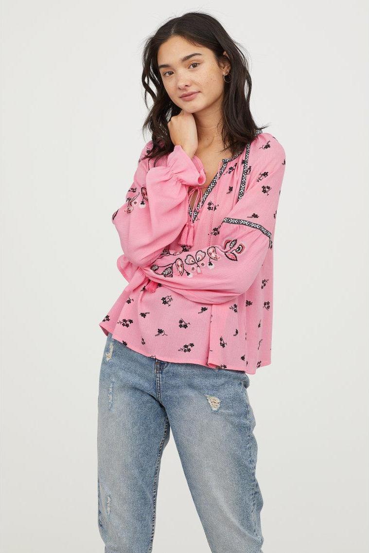 Отзыв на Вышитые Блузка из Интернет-Магазина H&M