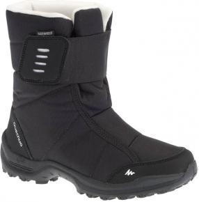 Снег сапоги Зимние походы SH100 Х-Теплый водонепроницаемый для детей черный