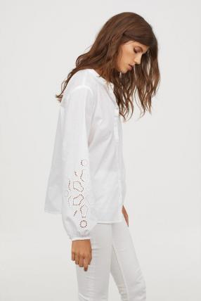 Блузка с Шар рукава
