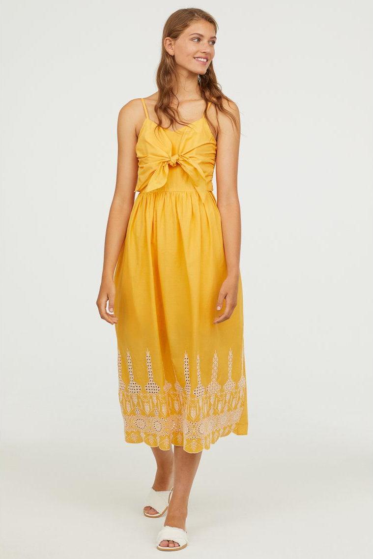 Отзыв на Платье хлопковое с Bindedetail из Интернет-Магазина H&M