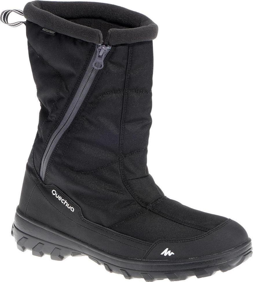Отзыв на Снег сапоги Зимние походы SH100 Х-Теплый водонепроницаемый для мужчин черный из Интернет-Магазина Decathlon