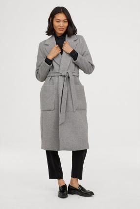 Пальто с Соединительной пояс