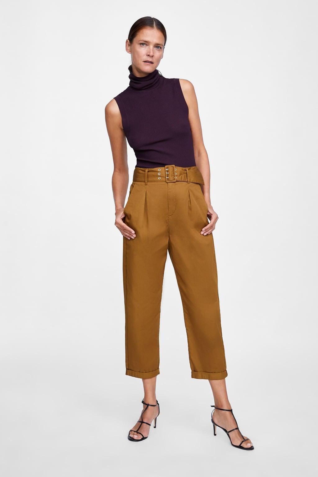 871bd5ea Отзыв на Плиссированные брюки с поясом (джинсы и брюки) из Zara ...
