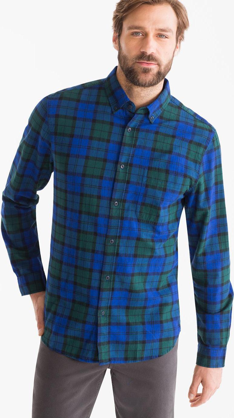 Отзыв на Рубашка - Зауженные Кнопка вниз клетчатый из Интернет-Магазина C&A