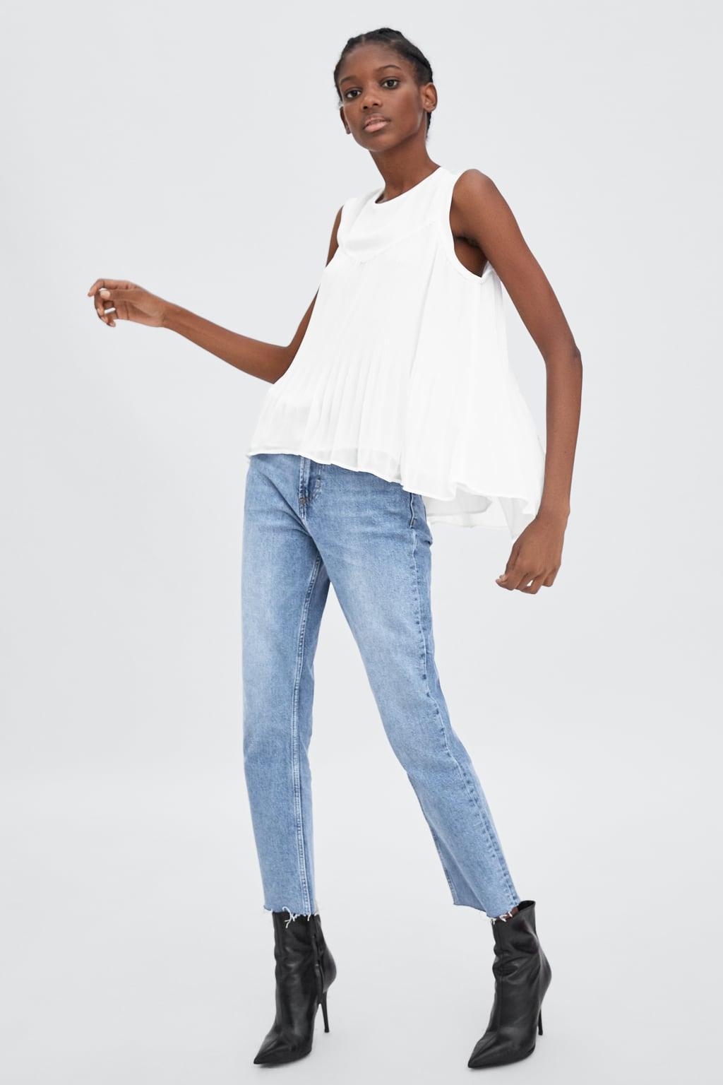 Отзыв на PLISSIERTES OBERTEIL из Интернет-Магазина Zara