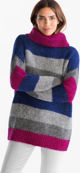 Пуловер - полосатый