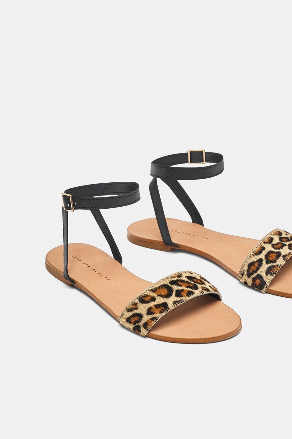 Отзыв на ПЛОСКИЕ кожаные сандалии с ЛЕОПАРДОВЫЙ из Интернет-Магазина Zara