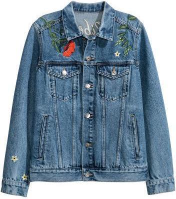 Отзыв на Вышитые джинсовая куртка из Интернет-Магазина H&M