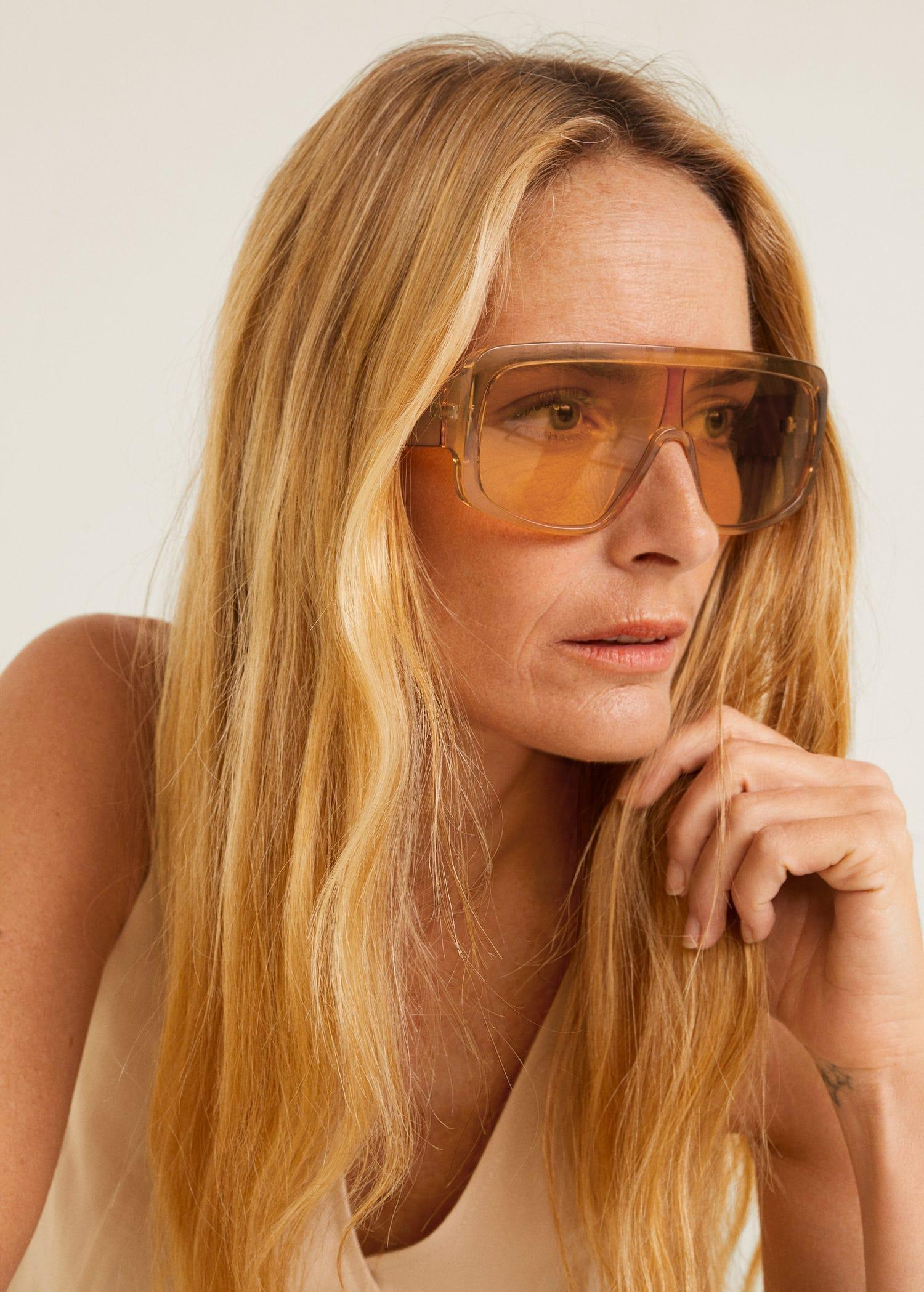Отзыв на Солнцезащитные очки с козырек из Интернет-Магазина MANGO