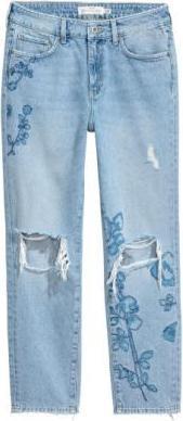 Ровные нормальные джинсы длиной по щиколотку