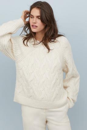 Отзыв на Свитер вязаный узором косичка из Интернет-Магазина H&M