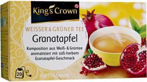 King's Crown Weisser & Grüner Tee Granatapfel