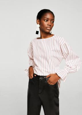 Полосы блузка с Соединительная лента