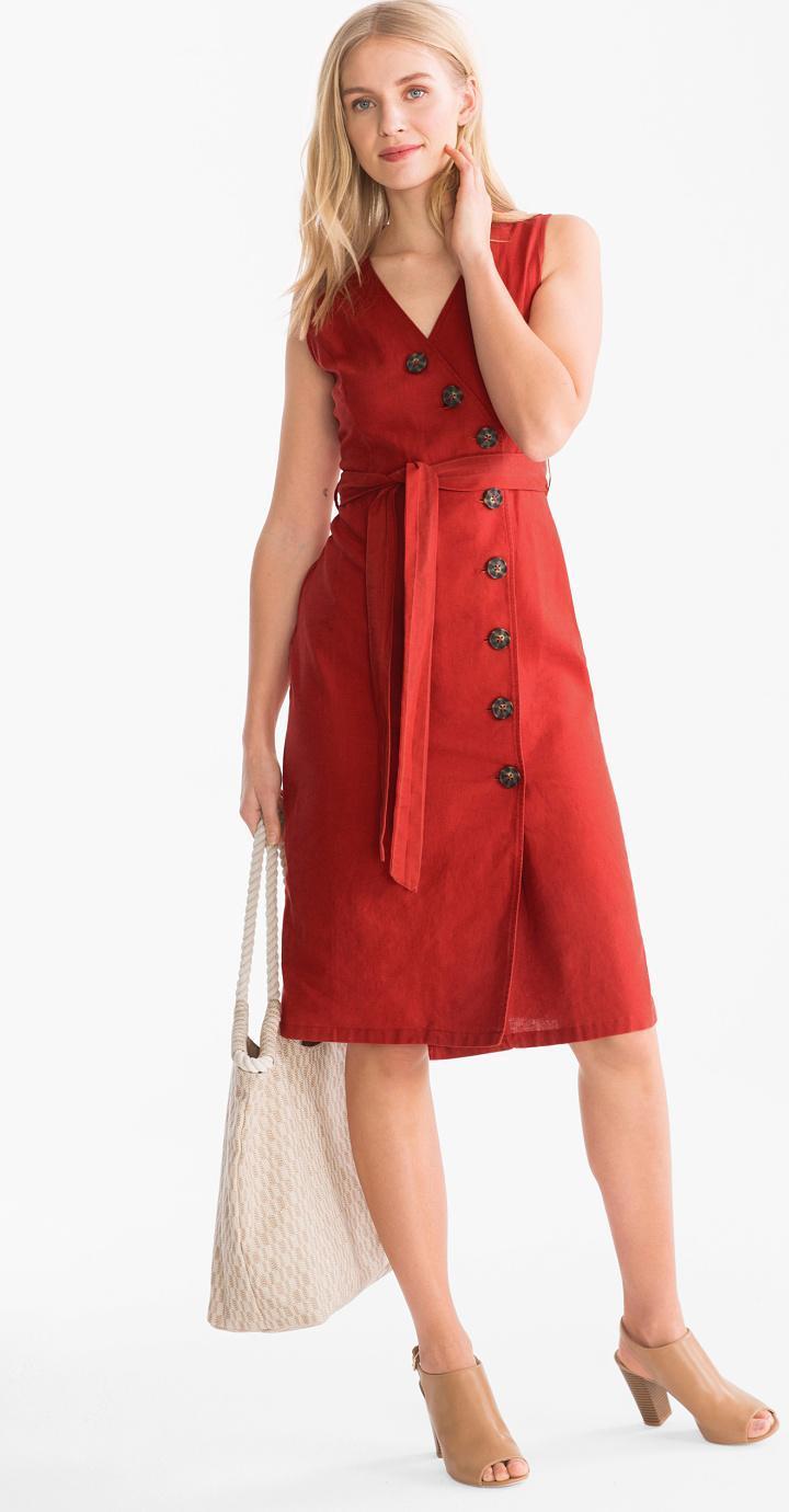 Отзыв на Колонки Платье - Лен-Mix из Интернет-Магазина C&A