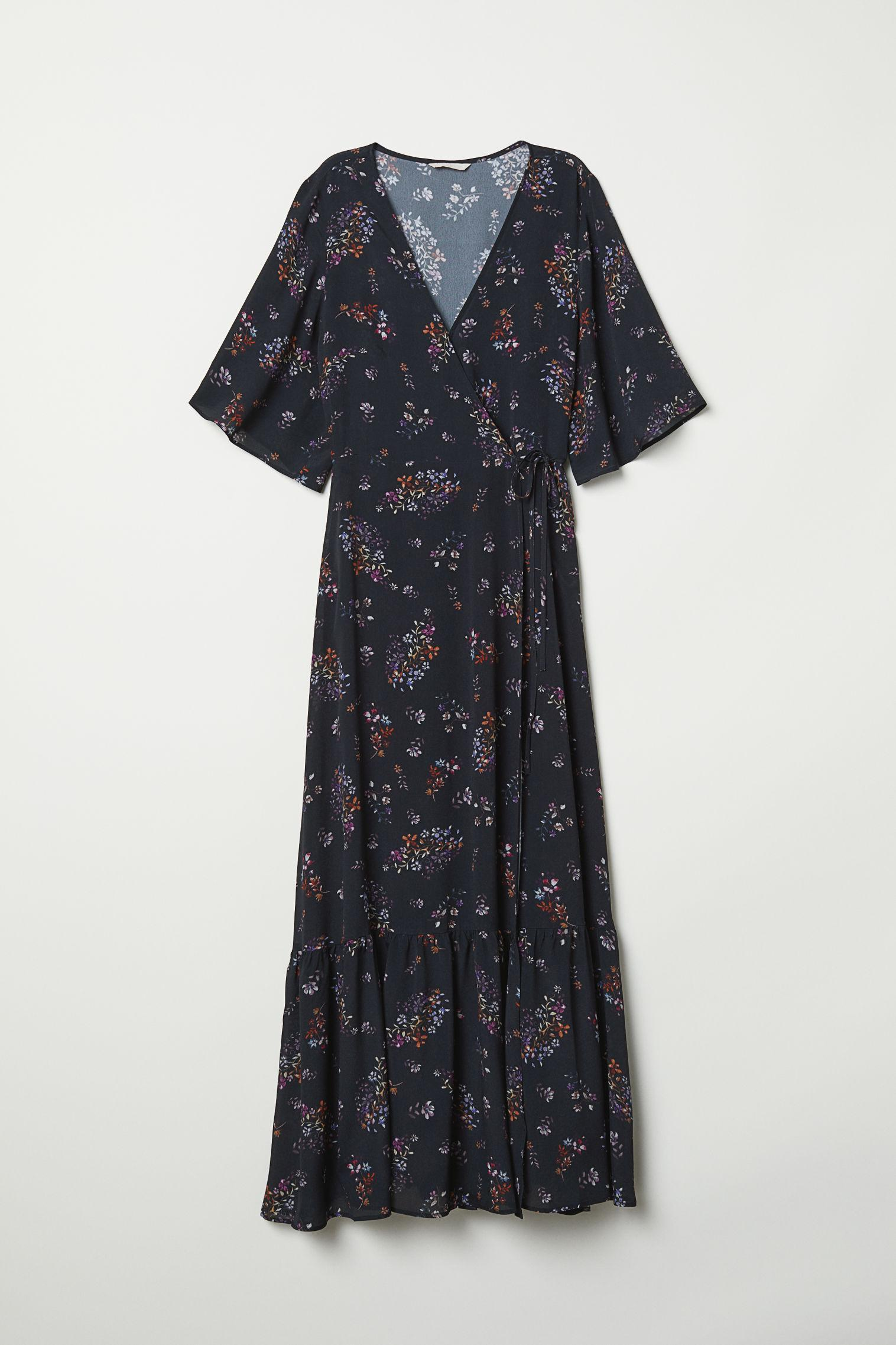 Отзыв на С пестрым рисунком платье на запах из Интернет-Магазина H&M