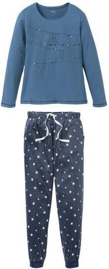 ESMARA® Нижнее белье для женщин Пижамы, Рубашка с Хлопок, штаны с Соединительная лента