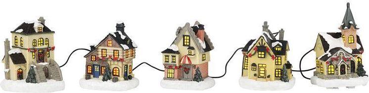 Отзыв на MELINERA® Рождественская улица, с 5 Домов, ручная роспись Украшения для которые Адвента из Интернет-Магазина LIDL