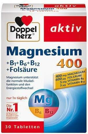 Отзыв на Doppelherz aktiv Magnesium 400 +B1 +B6 +B12 +Folsäure из Интернет-Магазина ROSSMANN