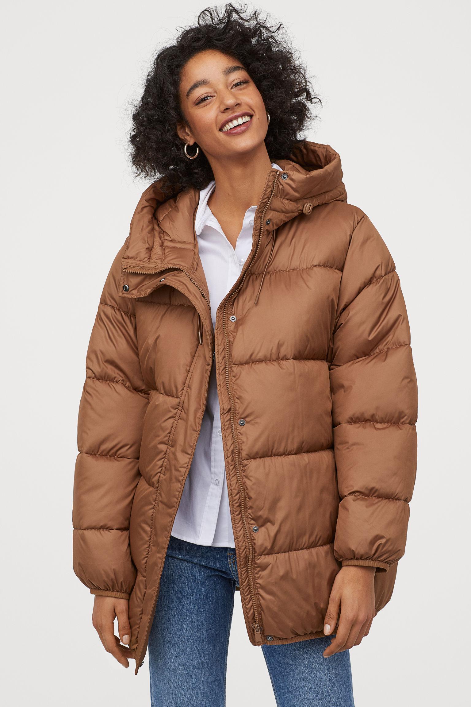 Отзыв на Стеганная куртка с капюшоном из Интернет-Магазина H&M