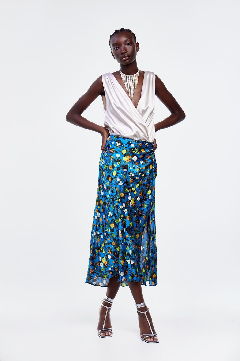 Отзыв на Юбка с цветочным узором из Интернет-Магазина Zara