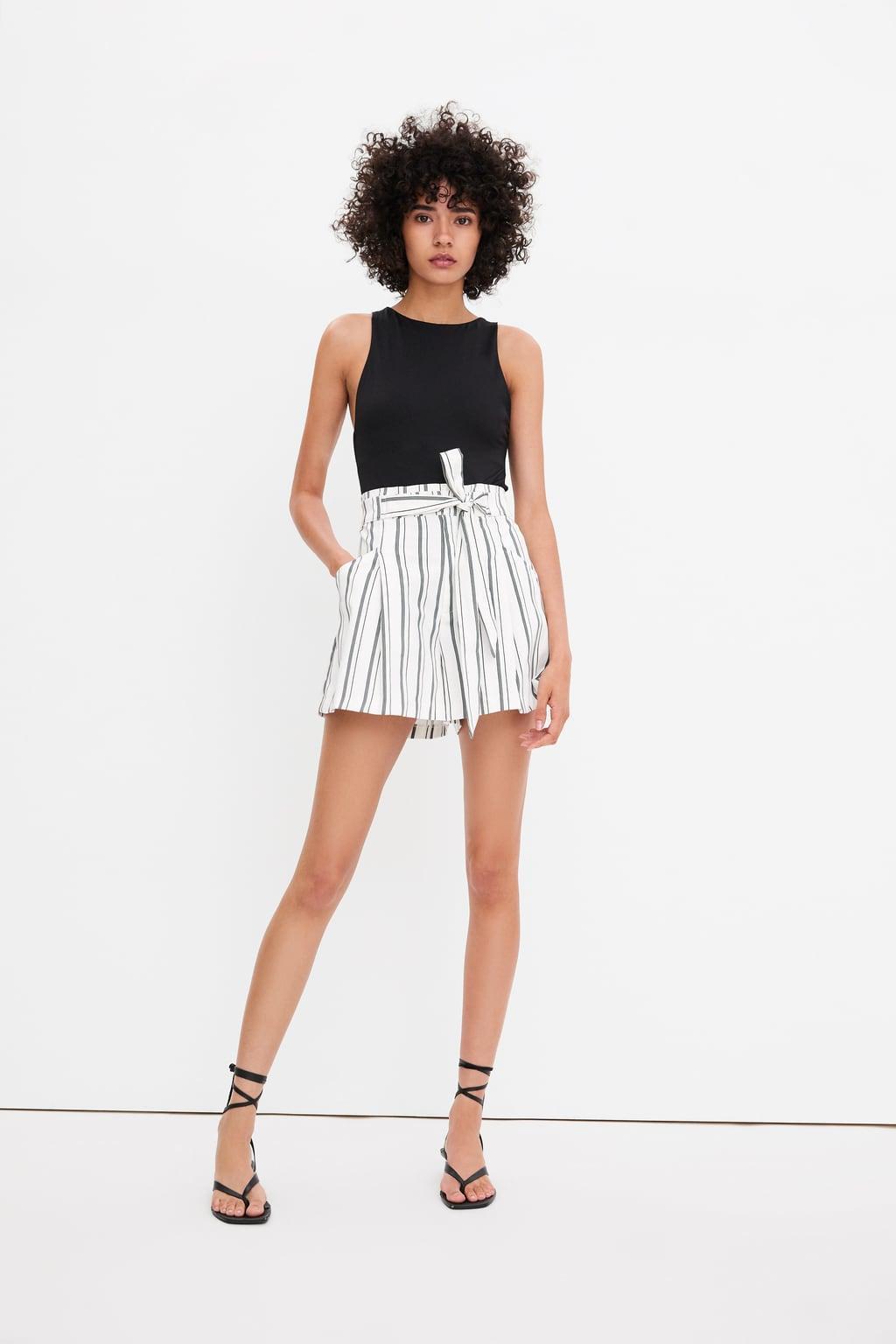 Отзыв на PAPERBAG-BERMUDASHORTS с поясом из Интернет-Магазина Zara