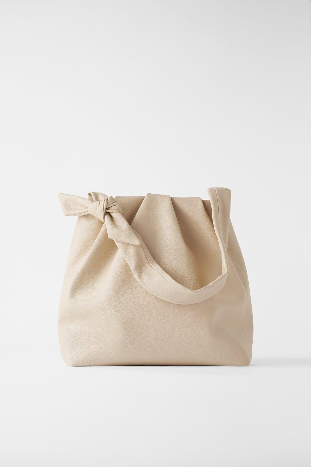 Отзыв на SOFT TOTE BAG WITH KNOTTED STRAP из Интернет-Магазина Zara