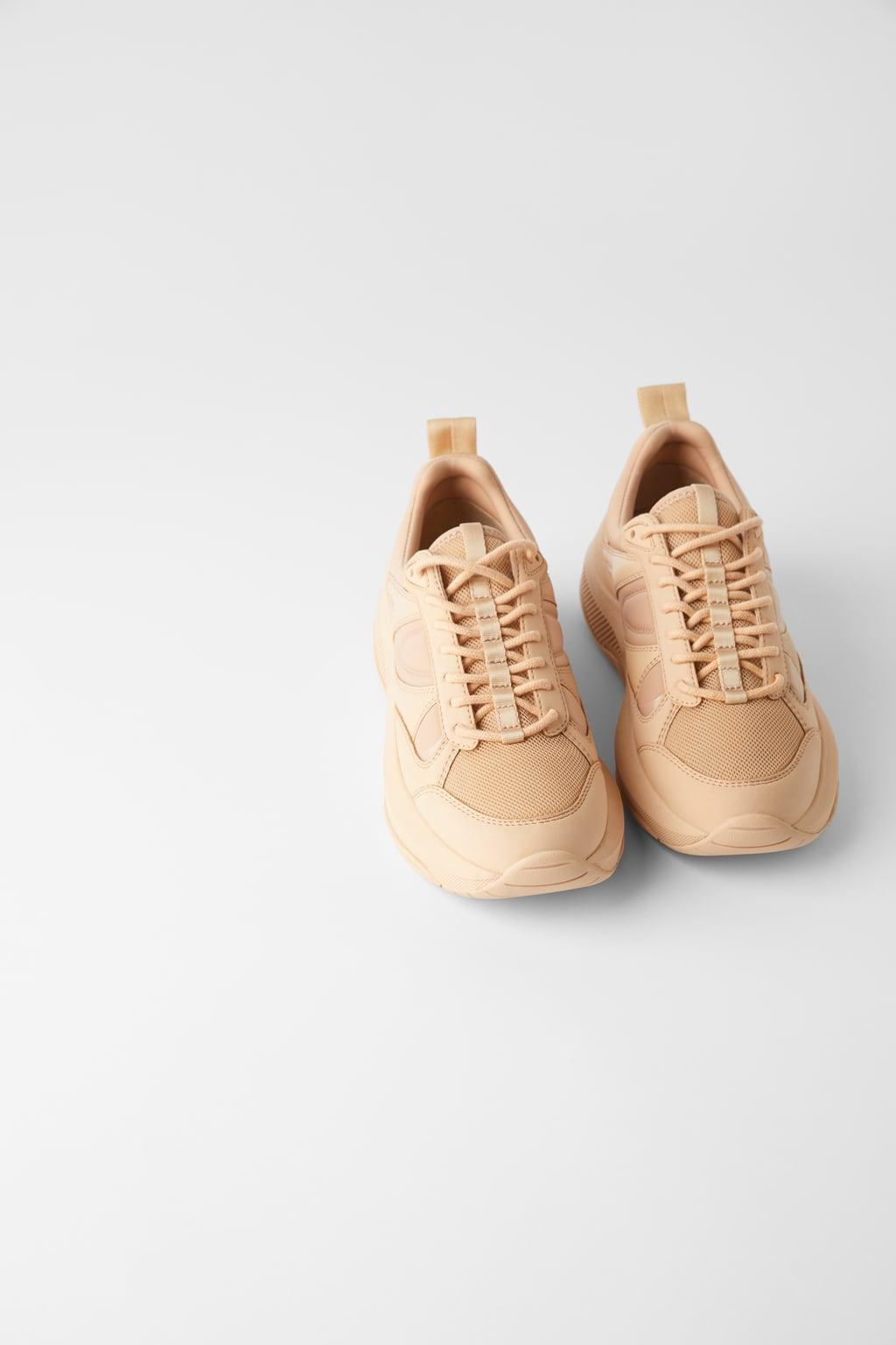 Отзыв на Стеганые Монохромный кроссовки из Интернет-Магазина Zara