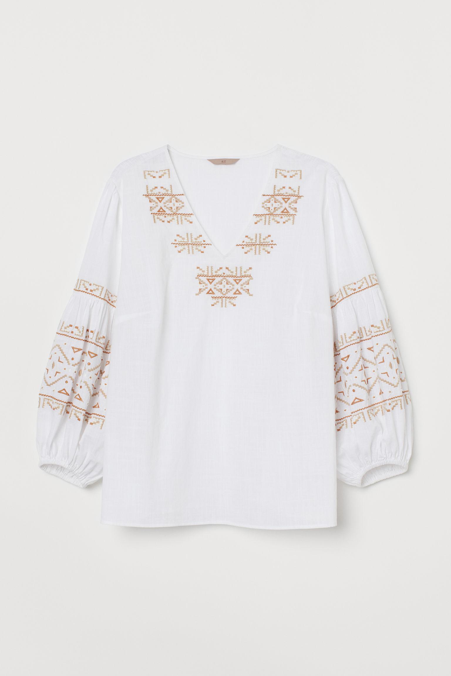 Отзыв на H&M+ Вышитые Хлопковая блузка из Интернет-Магазина H&M