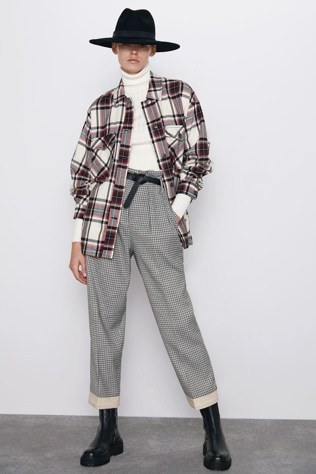 Отзыв на PAPERBAG TROUSERS WITH BELT из Интернет-Магазина Zara
