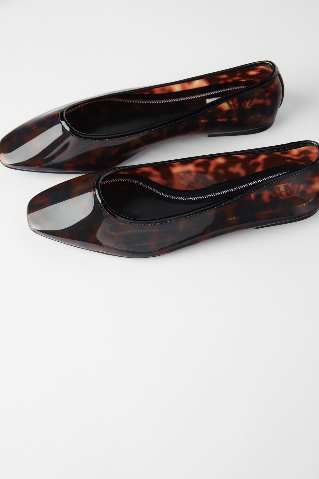 Отзыв на Балетки В Черепаховый оптики из Интернет-Магазина Zara